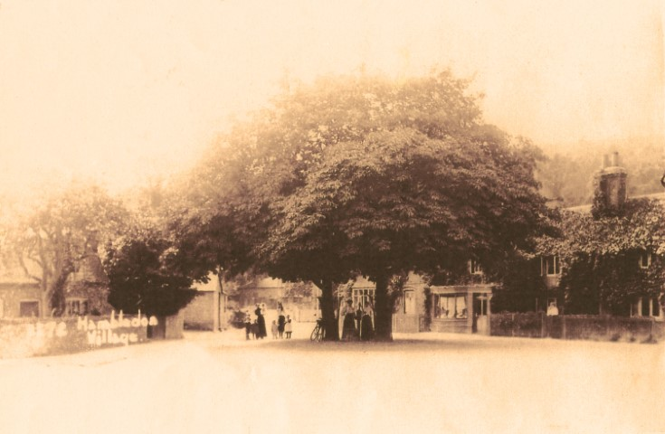 sepia photo of hambleden