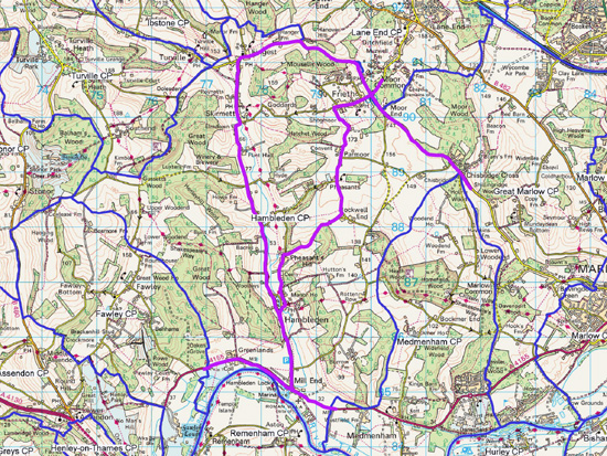 Map of gritting routes