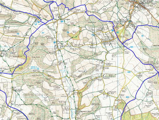 ordnance survey map for the north ward