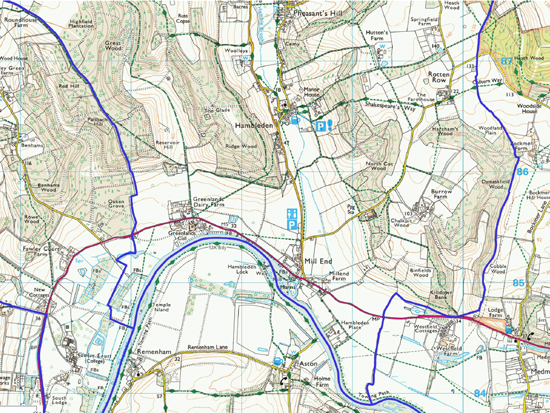 Ordnance survey map for the south ward